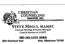 Get in Touch! | Christian Counseling Ministry Inc. - Enid,OK